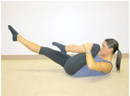 Best Tummy Toning Exercises Single leg stretch