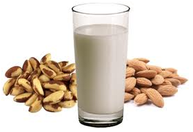 Quick And Healthy Breakfast Ideas For Weight Loss milk and nuts