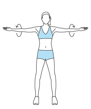 Easy Arm Exercises For Women arm circle