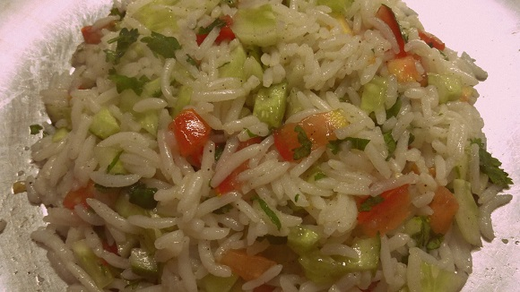 Healthy brown rice salad recipe