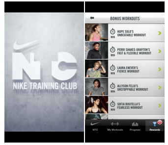 Top 6 Free Health and Fitness apps nike training club