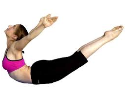 yoga locust pose toned legs