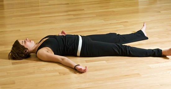 5 Yoga Poses You Can Do On Your Bed savasana