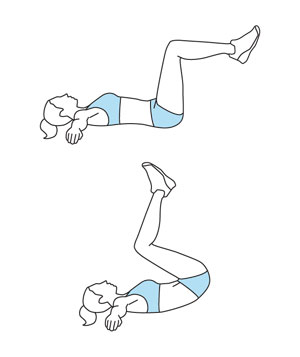 vertical leg crunches instructions