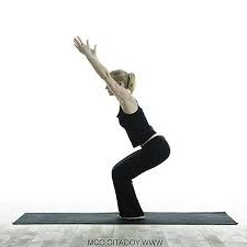 hot yoga for rapid weight loss utkatasana
