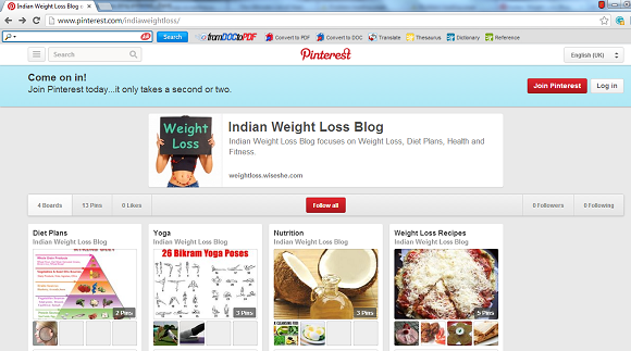 Indian Weight Loss Blog Pinterest