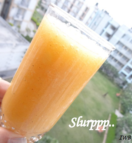 Papaya and Sun Melon Summer Fruit Drink Recipe15