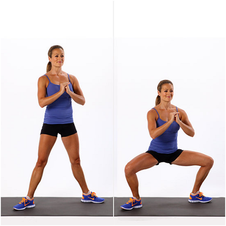 do at home leg workout sumo squats
