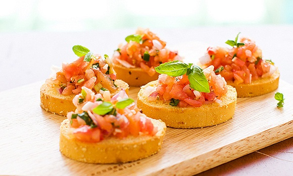 Bruschetta healthy italian food