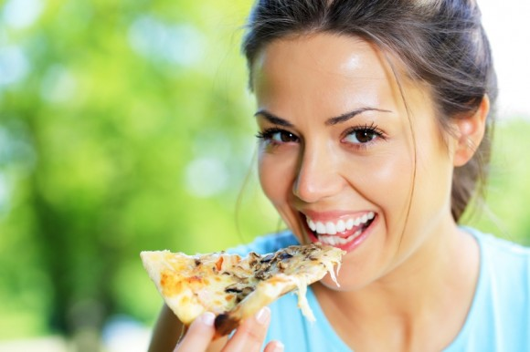 health benefits- girl eating with hands