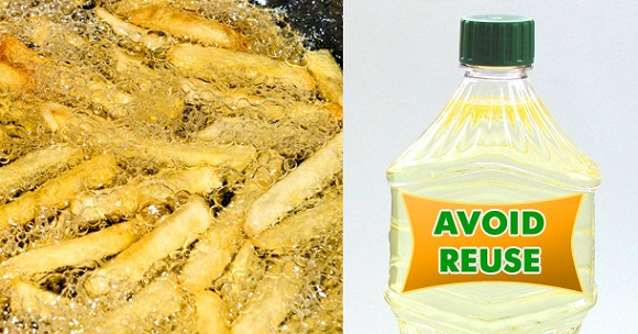 reuse of oil bad for health