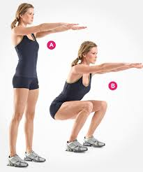 workout for busy women squats
