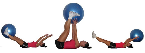 ball-pass-exercise to tone abs