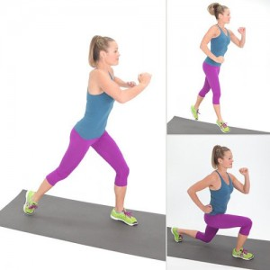 jumping lunge fitness