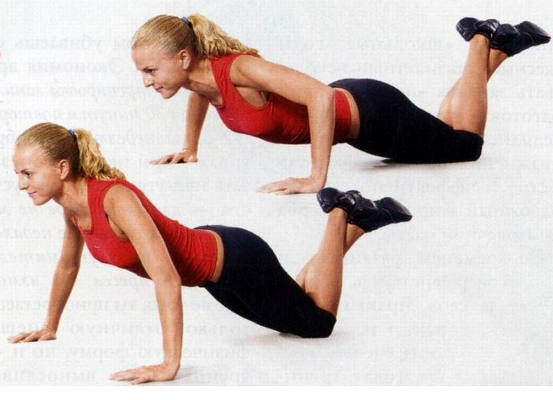 knee pushups toned arms
