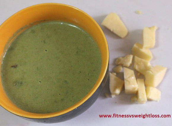 spinach soup with heavy cream