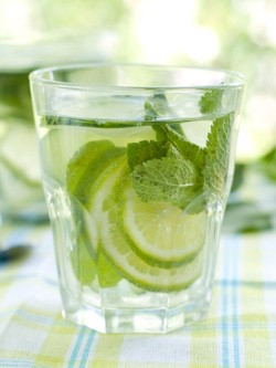 water lime mint