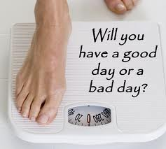 weighing scale good day bad day