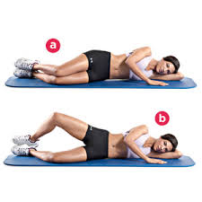 Clamshell exercise for toned rear