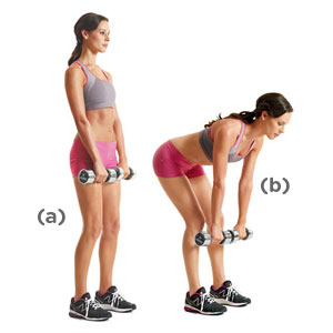Dumbbell Deadlift exercise for toned rear