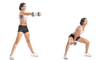 Single-Arm-Swing exercise for toned rear