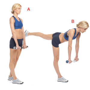 Single-Leg Deadlift exercise for toned rear