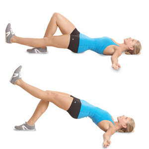 Single-Leg Hip Raise exercise for toned rear