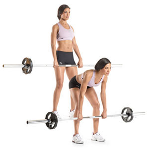 barbell straight leg deadlift exercise for toned rear