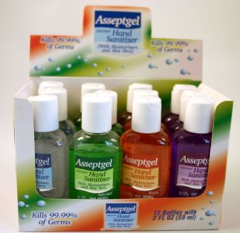 Instant anti bacterial hand sanitizer Nature display