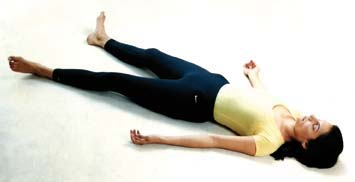 Shavasana yoga for thyroid