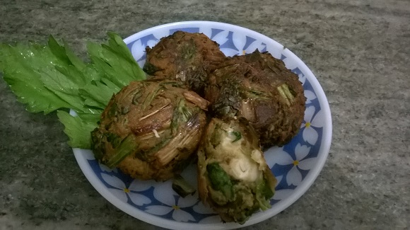 parsley spinach fritters 5