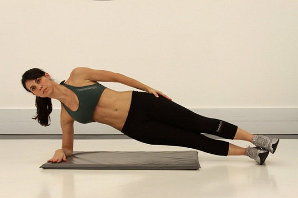 side-plank to tone body