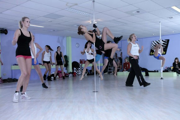 Pole fitness workout