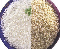 brown white rice