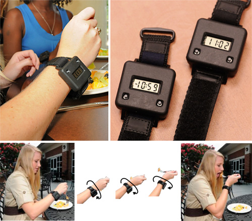 Bite counter gadget for weight loss
