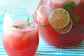 Watermelon and lime Mocktail