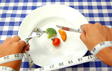low calorie diet food on plate