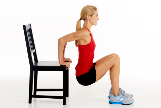 chair-dip exercise for toned arms