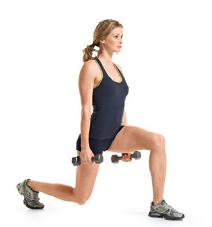 dumbbell-split-jump exercise for legs