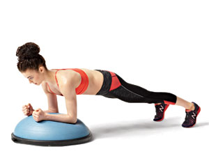 Forearm plank 6 exercises with the BOSU ball