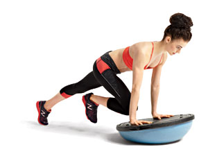 Mountain Climber 6 exercises with the BOSU ball