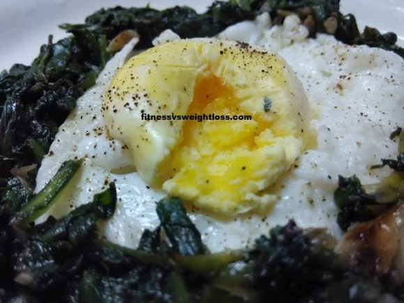 Spinach With Egg Recipe