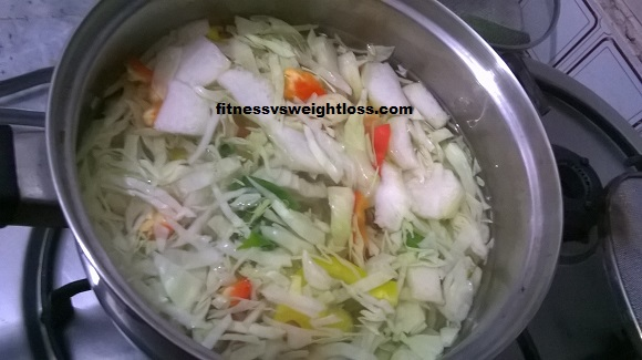 blanched veggies