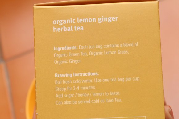 fabindia lemon organic tea