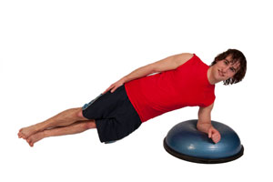 side_plank 6 exercises with teh BOSU ball