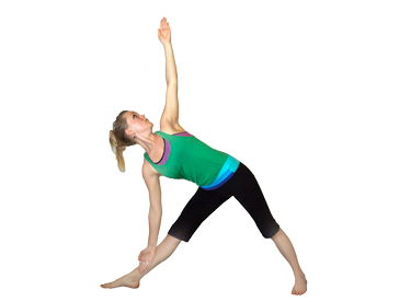 triangle pose yoga for back strengthening