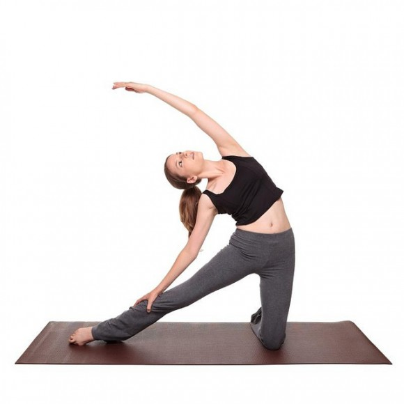yoga poses - Gate Pose position (parighasana)