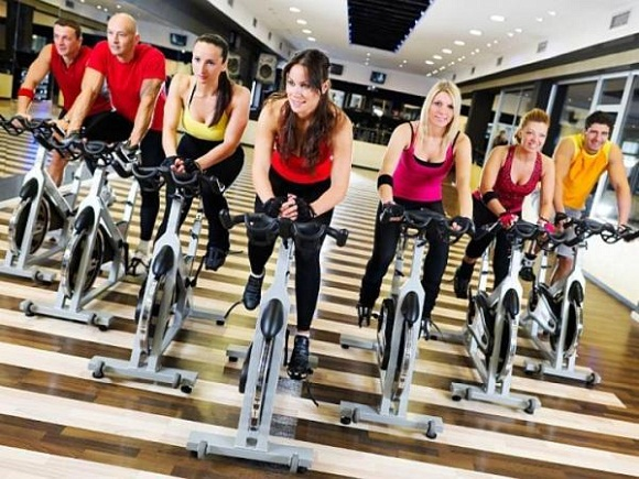 Indoor cycling-losing weight while socializing with friends