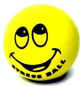 Using stress balls to relieve stress