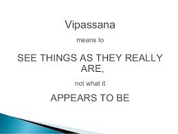 vipassana seein things as they are